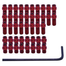 DMR Vault Pedal FlipPin Kit red